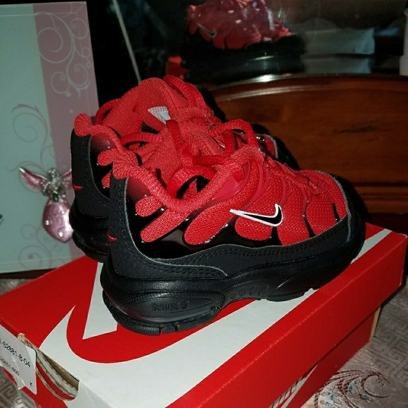 Nike Shoes Air Max Plus University Red White And Black 4c Poshmark